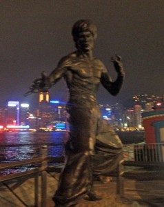 Statue of Bruce Lee in Kowloon